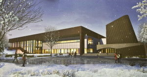 An exterior view of what the Wood Center will look when its remodel is complete. Photo courtesy of The University of Alaska Fairbanks and PERKINS + WILL 2011
