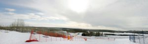 An overview shot of the UAF Terrain Park. March 8, 2013. Matthew Putman, Extreme Alaska