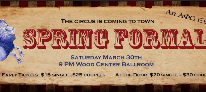 Spring Formal on March 30th