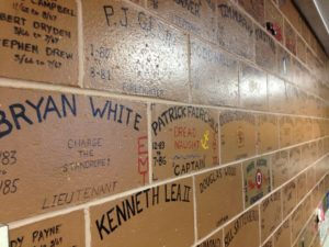 "Personalized bricks on the UFD ""Wall of Fame"".  -Photo by Micheal Ives, Extreme Alaska"