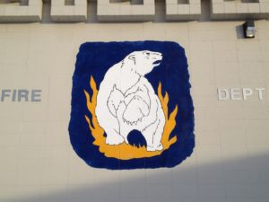 Nanook logo on the side of UFD station in Fairbanks, Alaska.  -Photo by Micheal Ives, Extreme Alaska
