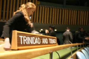 Mari Freitag at the UN building in New York City