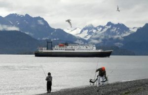 The state ferry Tustumena leaves Homer for Seldovia and Kodiak. BOB HALLINEN / Daily News file photo