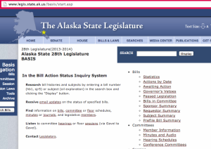 Type this URL into your browser to check up on past, present and upcoming Alaska bills.