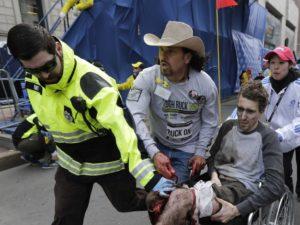 A victim of the Boston Marathon explosions. Photo by businessinsider.com