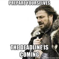 Meeting the Weekly Deadline on Time