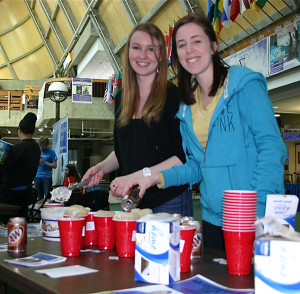 From left: ASUAF members Ayla O' Scannell and Bekah Schmdit.