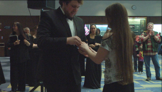 UAF singer surprises family with wedding proposal