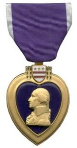 The Purple Heart medal.