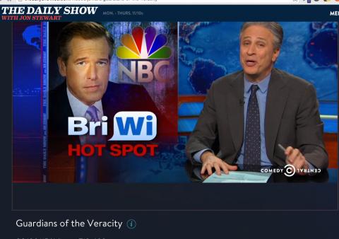 Jon Stewart mocks Brian Williams controversey