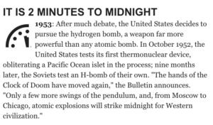 Doomsday clock of '53