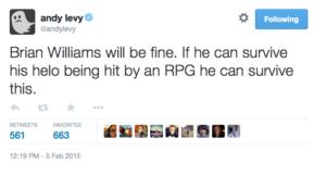 Andy Levy Tweet