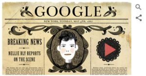 image of Nellie Bly Google Doodle