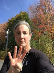 "Elisabeth Stokes, participating is the ""Put Your 4s Up"" Challenge, from Maine."