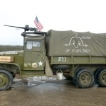 A heavy US Army truck suitably adorned at Shoreham airsho