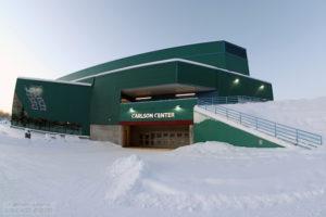 9 Feb 13: The University of Alaska-Fairbanks Nanooks host the Ohio State University Buckeyes at the Carlson Center in Fairbanks, AK. (USCHO - Rachel Lewis)